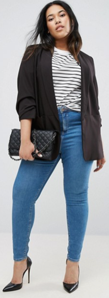 ASOS Curve | ASOS CURVE Mix & Match Rouched Sleeve Blazer Safari, Today at 18.54.14