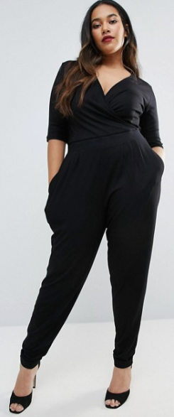 ASOS Curve | ASOS CURVE Wrap Jumpsuit with 3-4 Sleeve Safari, Today at 18.35.52