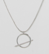 Pieces | Pieces Kiva Long Circle & Bar Pendant Necklace Safari, Today at 20.04.51
